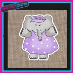 CUTE ELEPHANT DESIGN JUTE  SHOPPING LADIES GIFT BAG 002